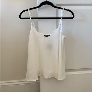 Topshop flowy cream blouse